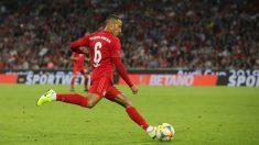 Thiago Alcántara, durante un partido con el Bayern Múnich. (Getty)