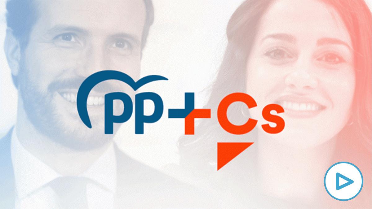 El logo de la coalición PP+Cs en el País Vasco