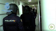 Imagen de la operación desarrollada por la Policía Nacional. Foto: EP