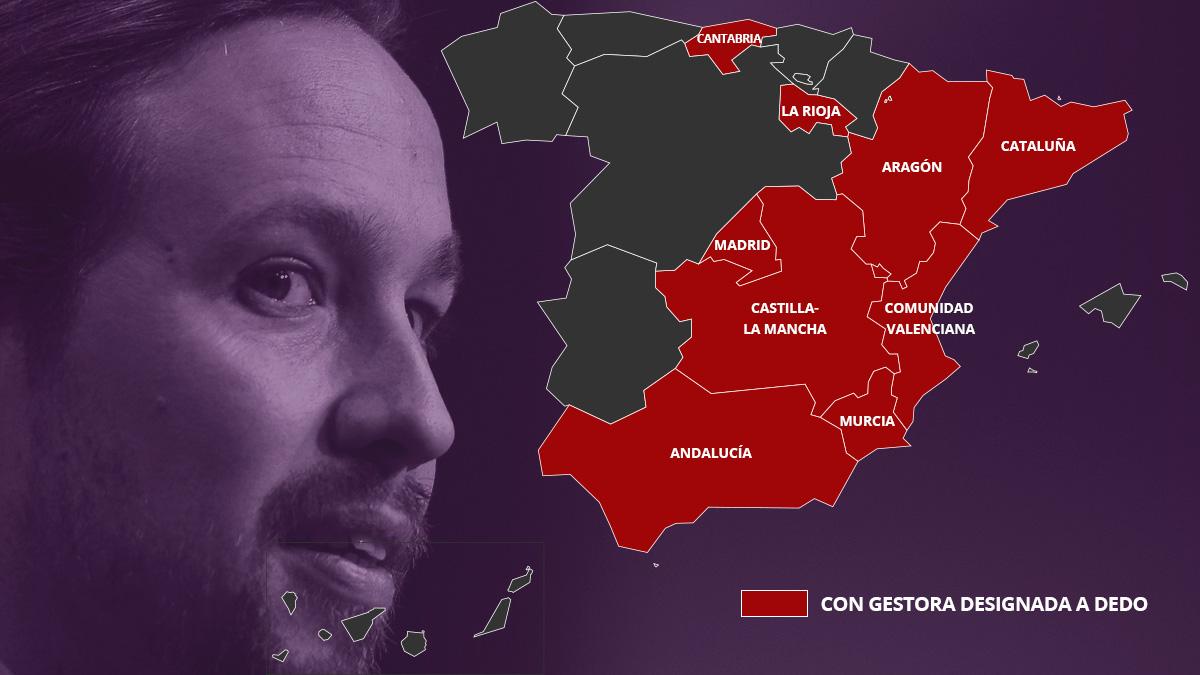 Situación de Podemos por comunidades autónomas