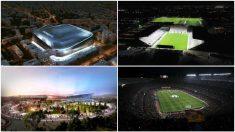 Algunos de los estadios que están o serán reformados.