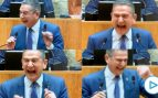 El ataque de risa del socialista Celso Rodríguez, consejero de Hacienda en el Parlamento de La Rioja.