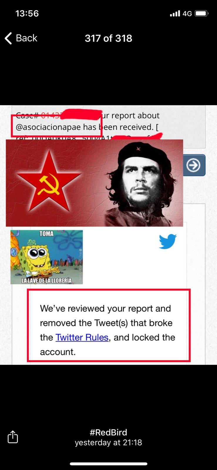 Un red de extrema izquierda pidió el cierre inmediato de la cuenta de Twitter de Periodistas por España