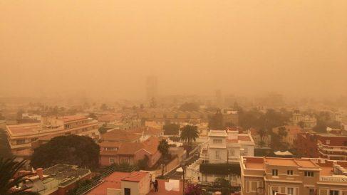 Episodio de calima en la isla de Gran Canaria.