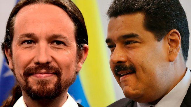 Pablo Iglesias y Nicolás Maduro.