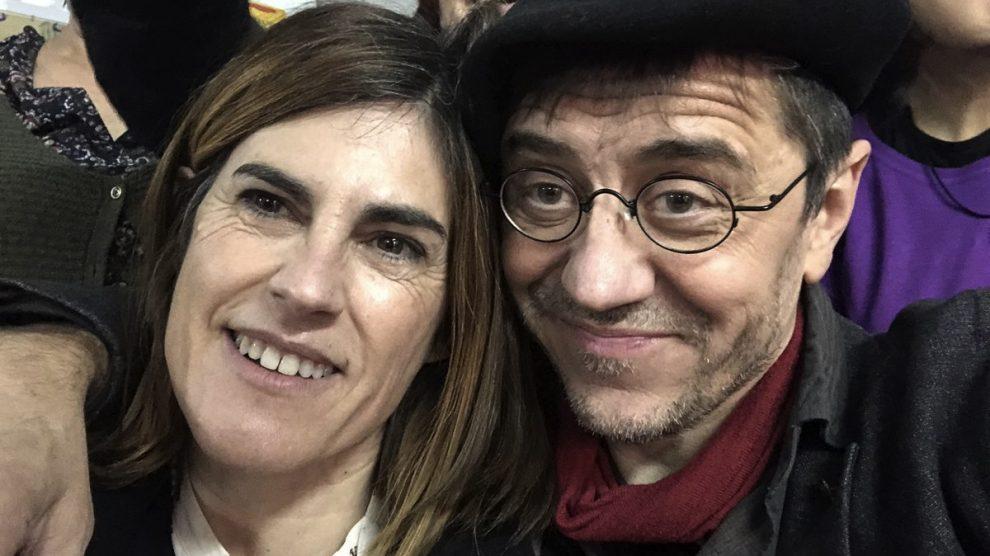Juan Carlos Mondero con la candidata oficialista Miren Gorrotxategi. (Foto: TW)
