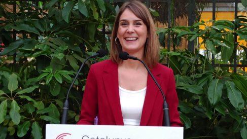 La líder de los Comuns en el Parlament, Jéssica Albiach. (Foto. EP)