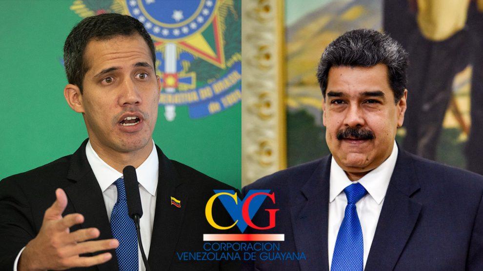 El presidente encargado de Venezuela, Juan Guaidó, y el dictador Nicolás Maduro.