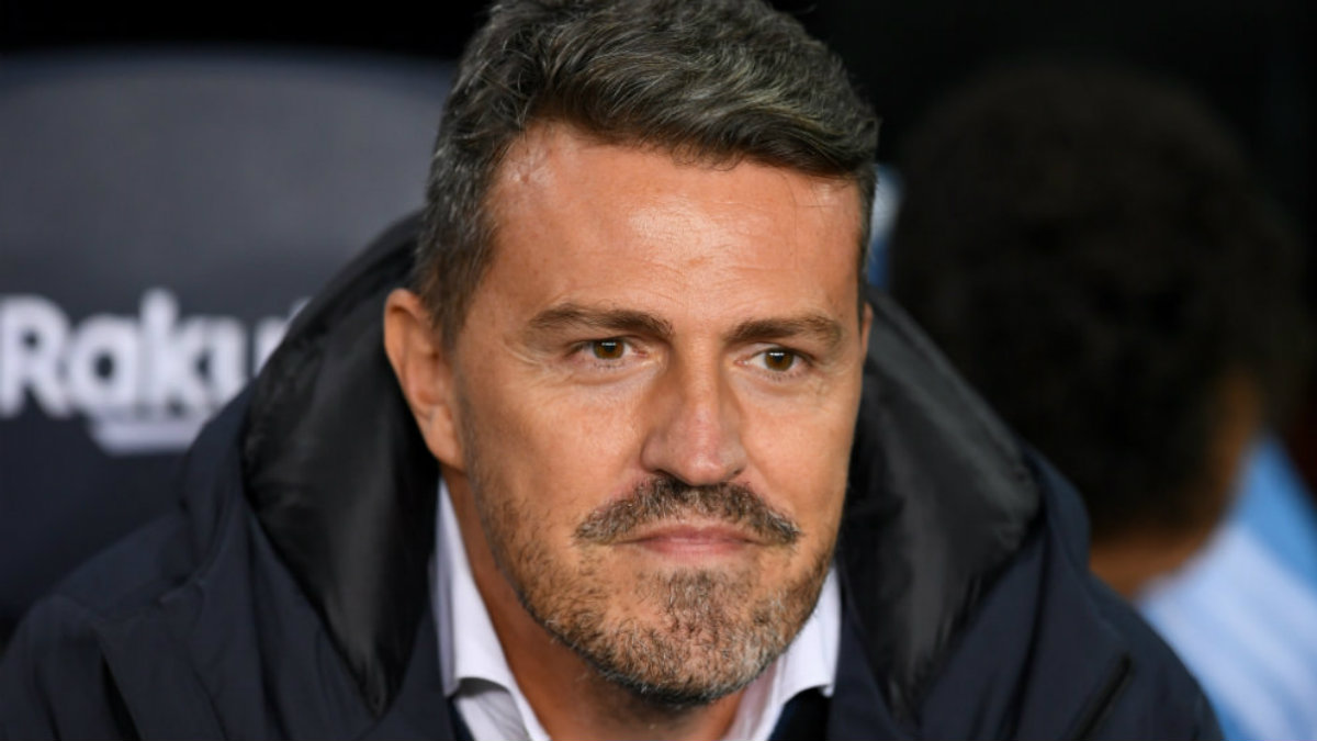 Óscar García, entrenador del Celta de Vigo. (AFP)