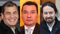 Ecuador Rafael Correa, el 'espía' Pablo Romero Quezada y el líder de Podemos, Pablo Iglesias.