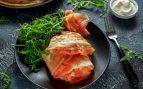 Receta de rollito de tortilla con espinacas y salmón
