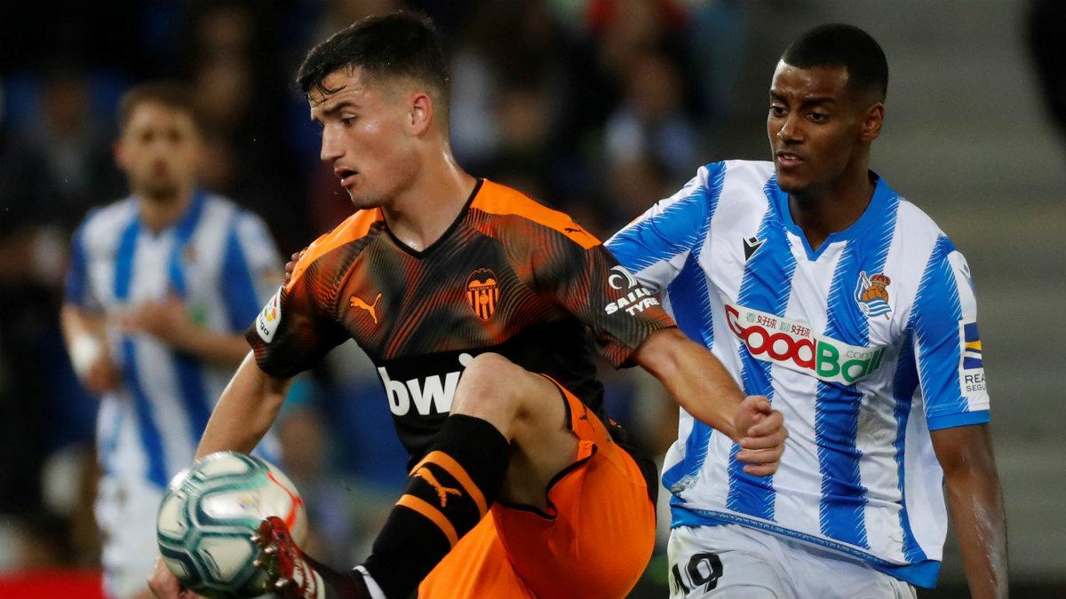 Hugo Guillamón en su debut con el Valencia. (EFE)