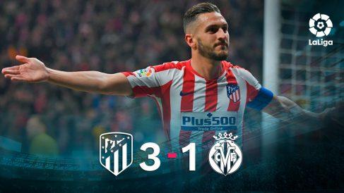 El Atlético venció al Villarreal en el Metropolitano. (AFP)