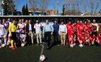 Ignacio Aguado este domingo en el partido de fútbol de políticos contra periodistas.