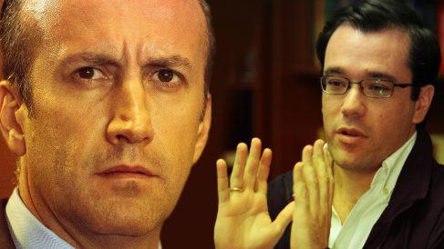 El vicepresidente económico de Venezuela Tareck El Aissami y el presidente de la corporación pública CVG, Pedro Maldonado.
