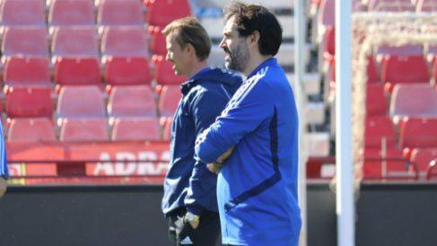 Jesús Muñoz junto a José María Gutiérrez. (Udealmeriasad.com)