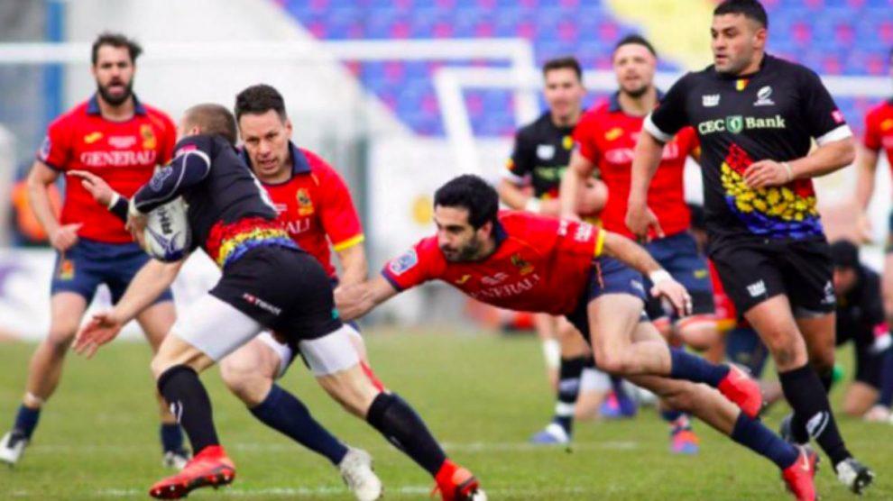 Una imagen del Rumania-España de rugby. (rugby europe)