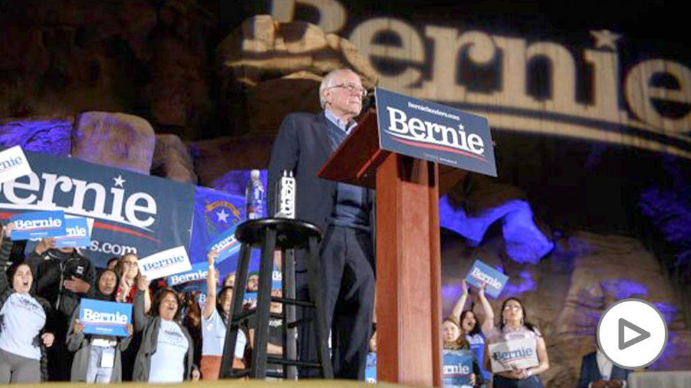 El candidato demócrata Bernie Sanders durante un mitin en Las Vegas (Ep)