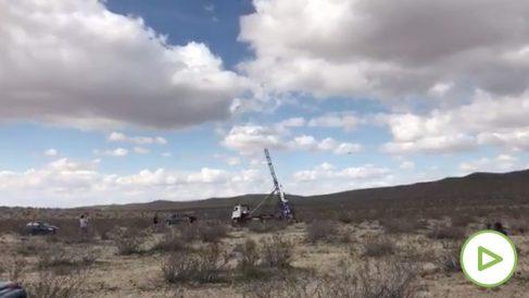 Imagen de la lanzadera usada por 'Mad' Mike para su cohete.