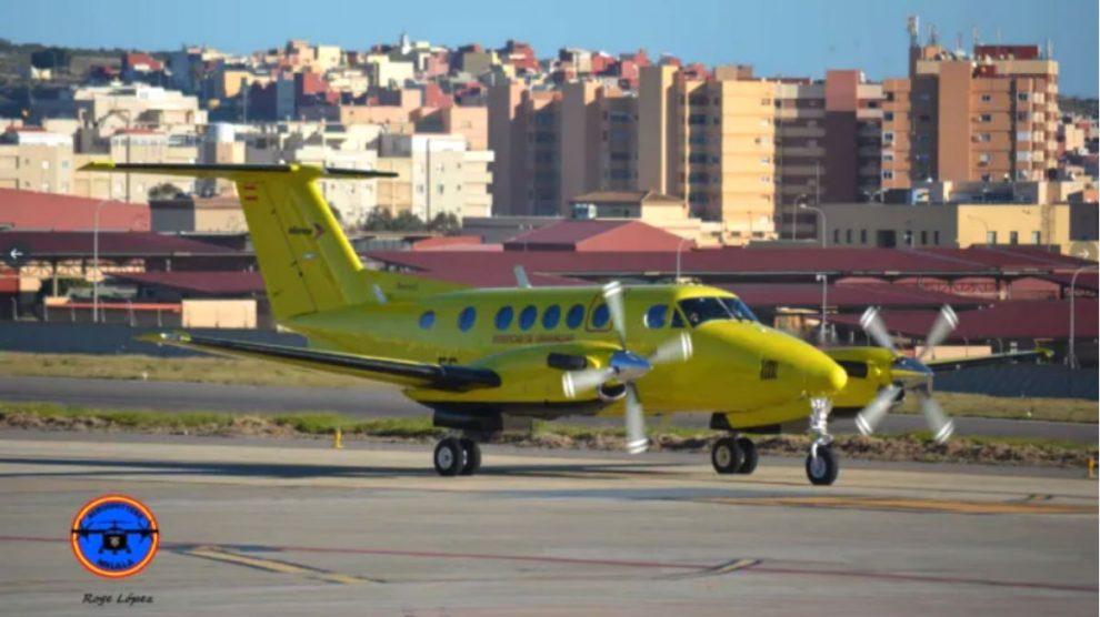 Uno de los aviones utilizados por Eliance en el transporte sanitario aéreo.