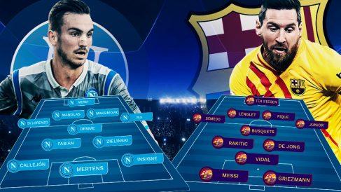 Nápoles y Barcelona se enfrentan en San Paolo.