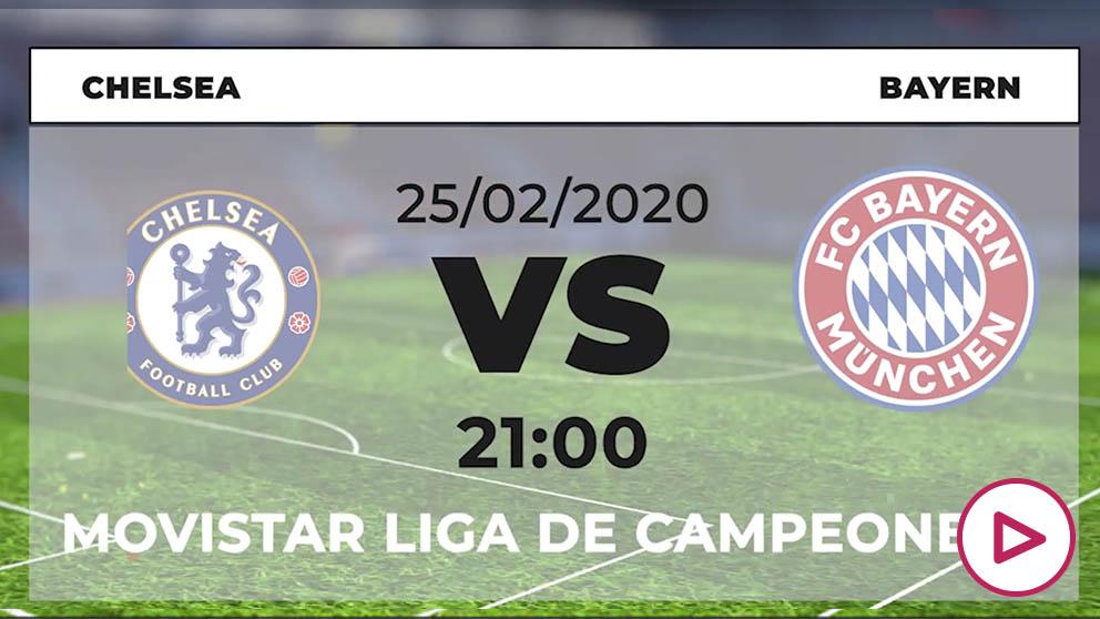 Champions League 2019-2020: Chelsea – Bayern   Horario del partido de fútbol de Champions League.