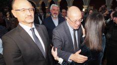 Francisco Igea e Inés Arrimadas se saludan. Foto: EP