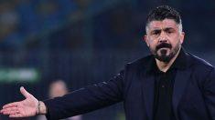 Gattuso, en un partido con el Nápoles. (AFP)