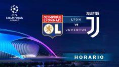 Champions League 2019-2020: Lyon – Juventus   Horario del partido de fútbol de Champions League.