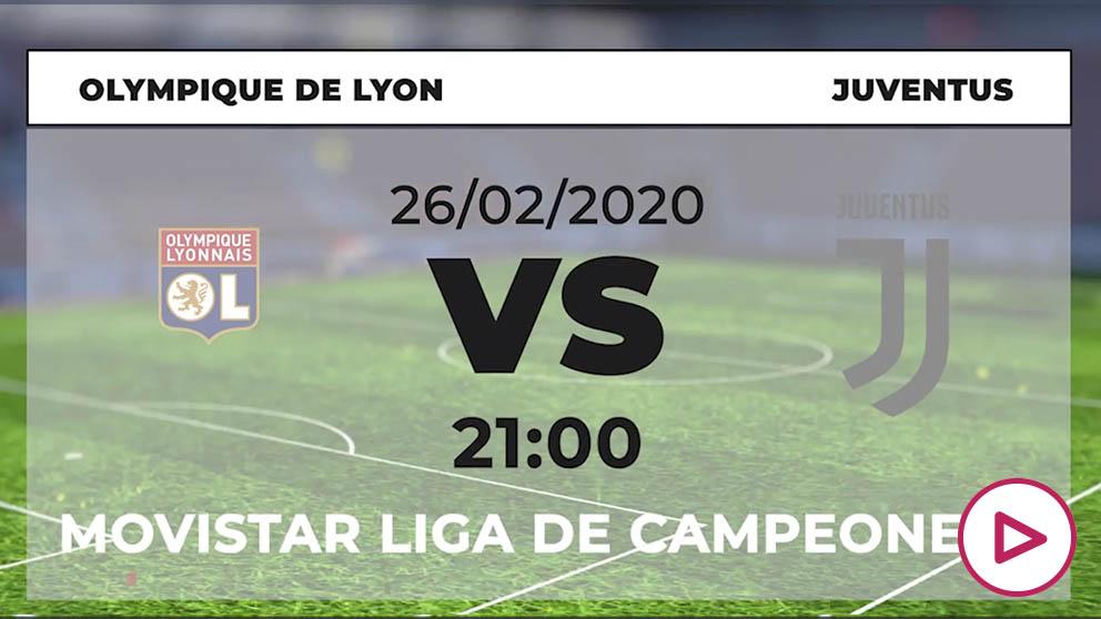 Champions League 2019-2020: Lyon – Juventus| Horario del partido de fútbol de Champions League.