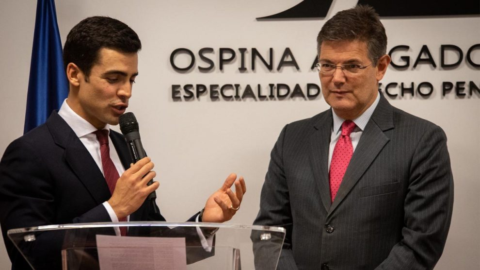 Juan Gonzalo Ospina y Rafael Catalá.