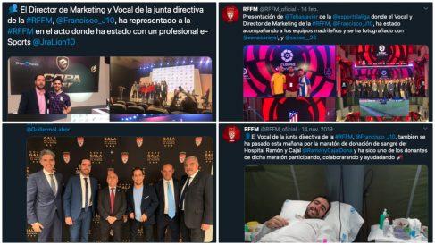 El hijo de Paco Díez, protagonista en las redes sociales de la RFFM.