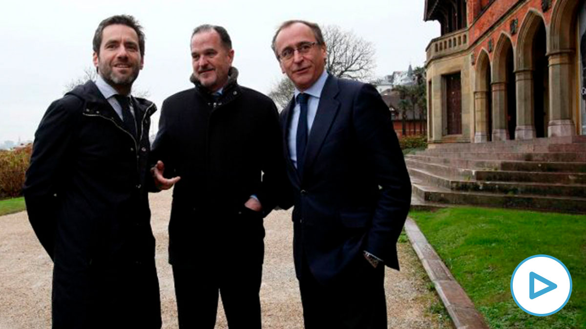 Borja Sémper, Carlos Iturgaiz y Alfonso Alonso. Foto EP