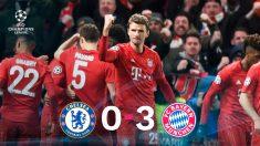 Recital del Bayern ante el Chelsea. (Getty)