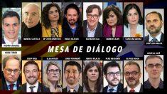 Mesa de negociación Gobierno-Generalitat sobre Cataluña.