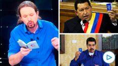 Pablo Iglesias leyendo la Constitución al estilo Chávez y Maduro