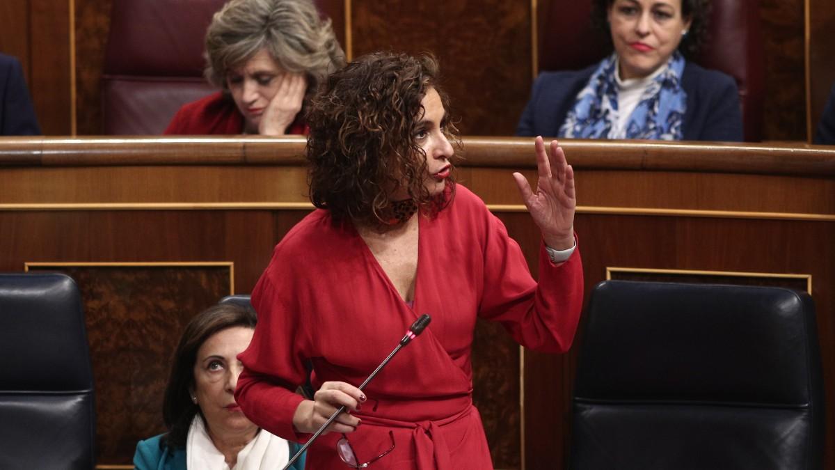 María Jesús Montero durante una intervención en el Congreso.