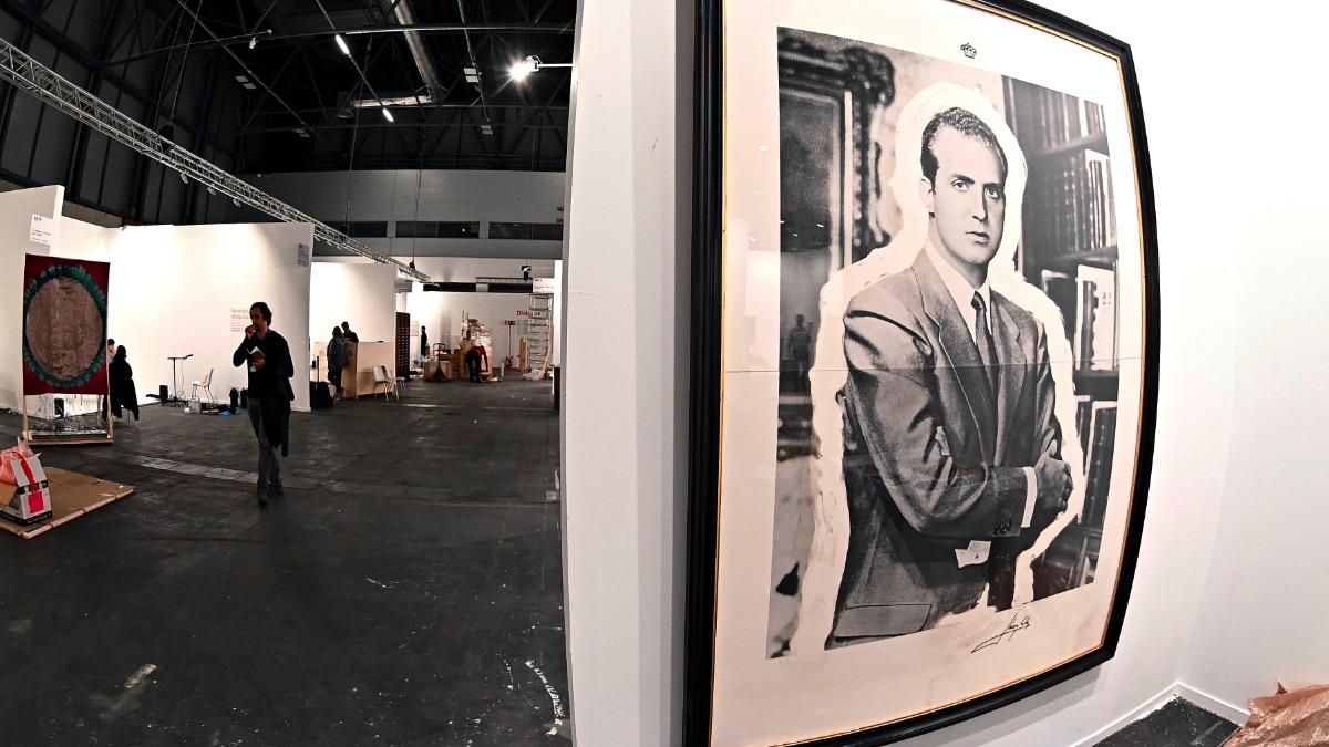 Creación sobre el Rey Juan Carlos I en Arco 2020. (Foto: EFE)