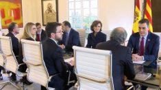 La reunión entre representantes del Govern de Quim Torra y del Gobierno de Pedro Sánchez en La Moncloa.