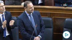 Tensión en el Congreso en una pregunta del PP al ministro Ábalos sobre su papel en el 'Delcygate'.