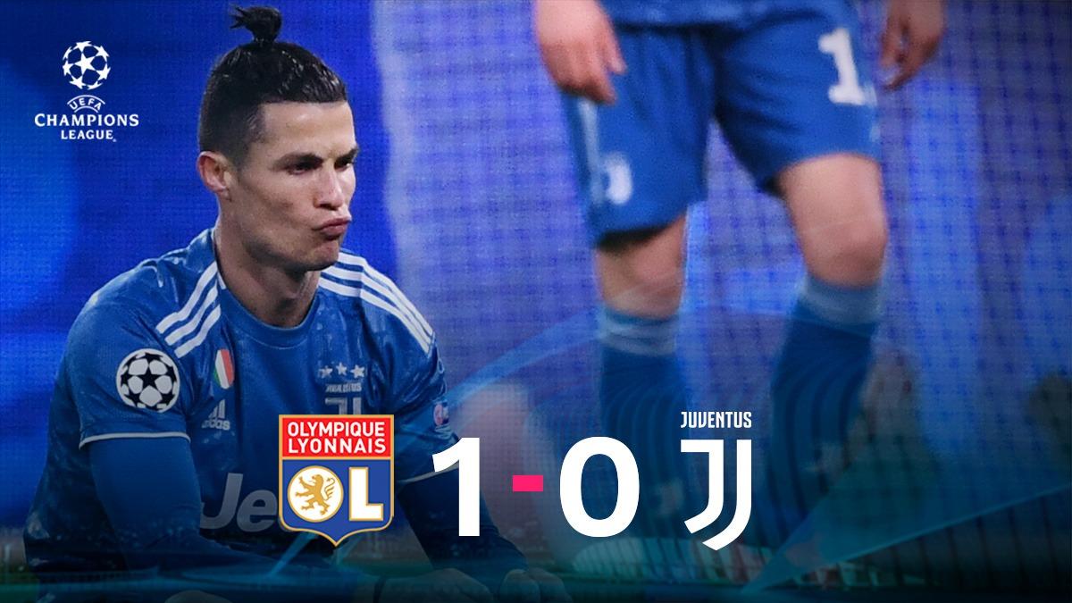 La Juventus de Turín se ahoga en el área del Lyon y los franceses irán con ventaja a Turín.
