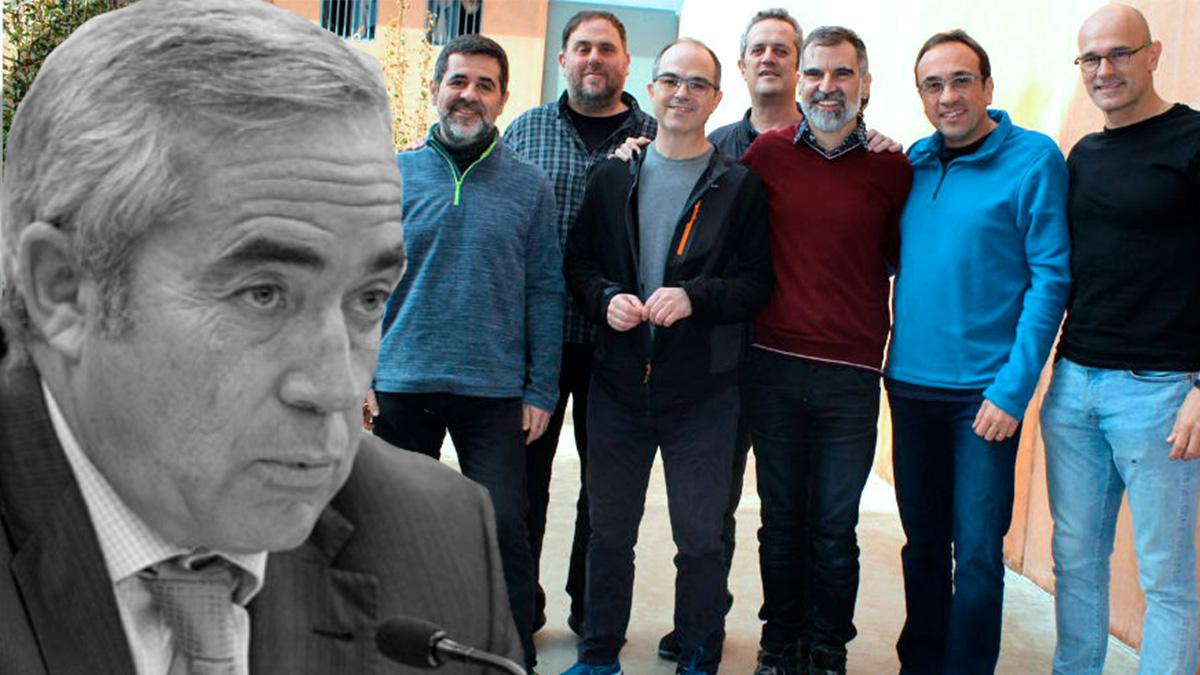 El fiscal jefe de Cataluña, Francisco Bañeres, y los golpistas de Lledoners