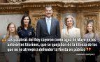 Taurinos y antitaurinos dentro de la Familia Real