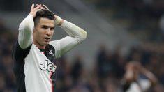 Cristiano Ronaldo, en el último duelo entre la Juventus y el Inter. (Getty)