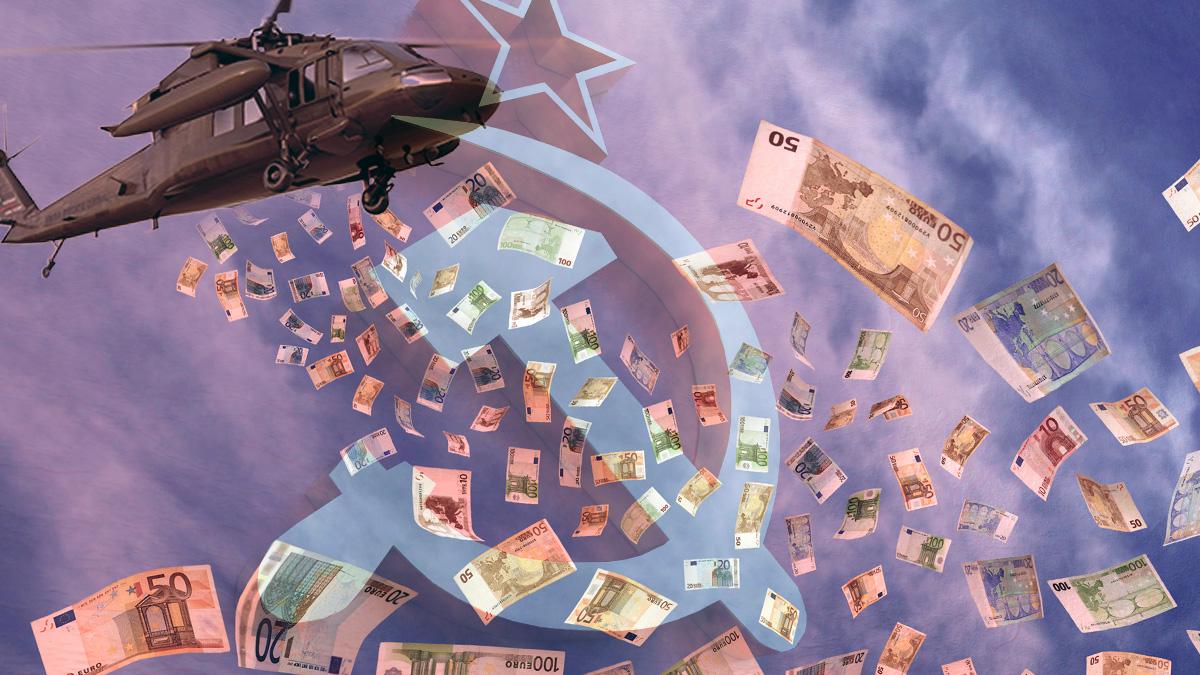 El helicóptero del dinero