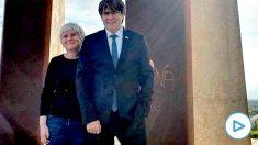 Carles Puigdemont y Clara Ponsatí en Francia.