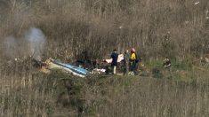 Lugar donde cayó el helicóptero en el que perdió la vida Kobe Bryant. (Getty)