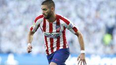 Yannick Carrasco durante un partido con el Atlético de Madrid. (atleticodemadrid.com)