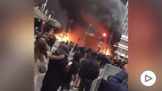 Incendio en París.