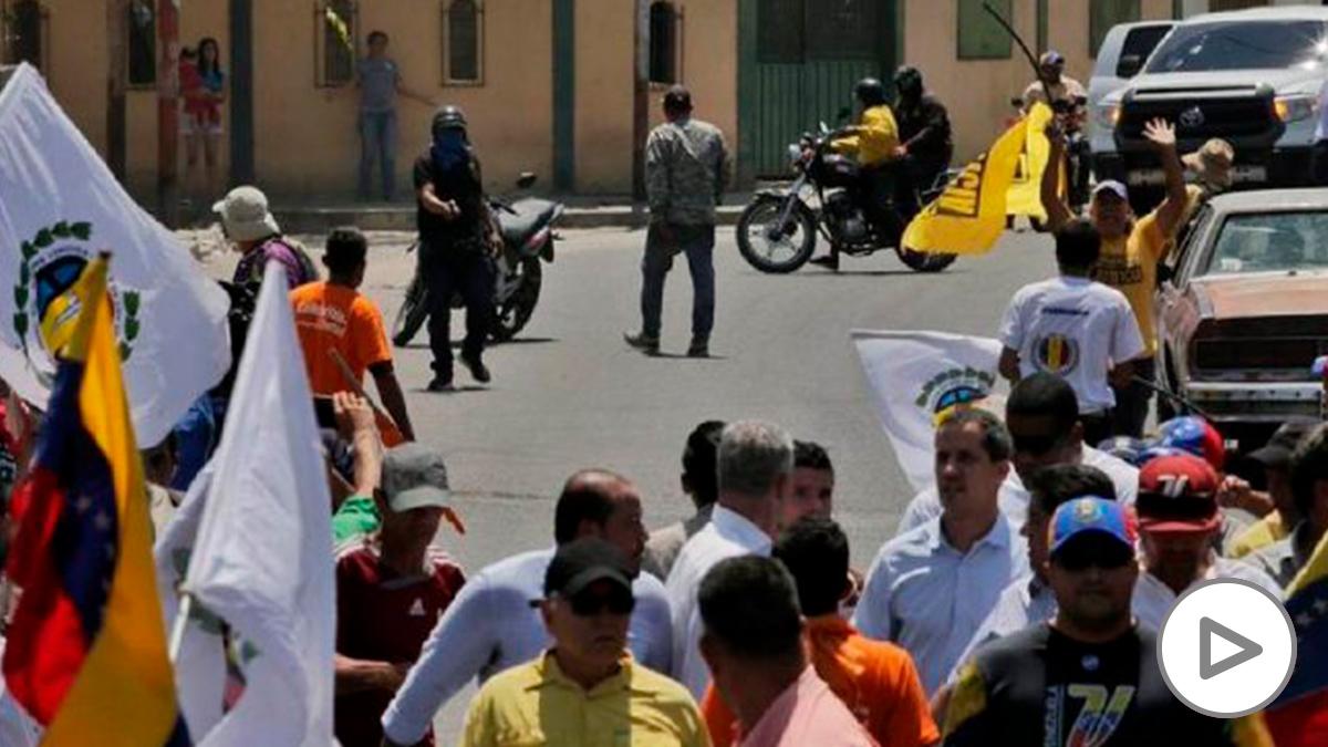 Imagen subida por el propio Juan Guaidó sobre el intento de asesinato